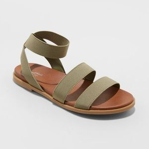 Women's Paisley Elastic Ankle Strappy Sandals